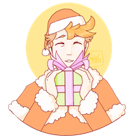 MSPaint christmas boi by TropicaIDeer