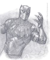 Black Panther 001 Small by mikewilsonart