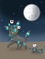 Umbreon Family by CookieCorner