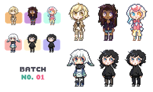 Pixel Icon Commishes 01 by Sergle