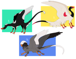 Fowl Draggo Adopts (CLOSED) by CoryKatze