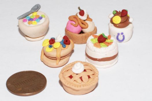 polymer clay desserts by cactusrain