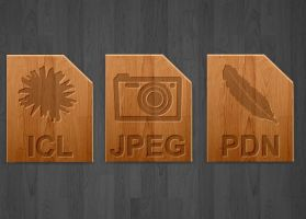 Wood icons for image types by teroleg