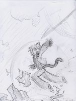 Leap Sketched In Airport by Deathkiller