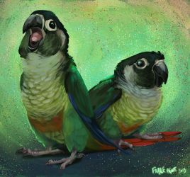 Gaia and Fred by FablePaint