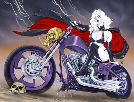 Lady Death Origins: Cursed Cover by MDiPascale
