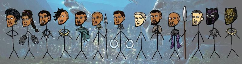 Black Panther stickmans XD by MayTheForceBeWithYou