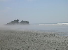 Mist Shrouded Sea Stacks by askoi