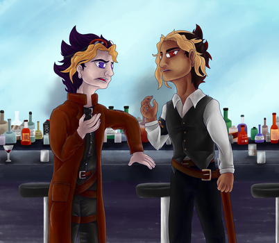 The Bar Scene by ashe-the-hedgehog