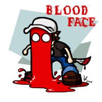 Blood Face by ivanev