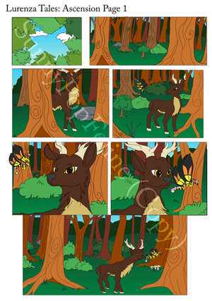 Lurenza tales:ascension page 1 (Flat Colour) by SunnyPopFeline