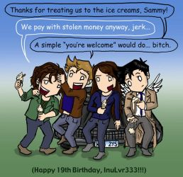 Happy Birthday InuLvr333 by blackbirdrose