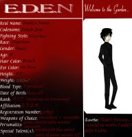 E.D.E.N. Character Sheet by RobotsWithCookies