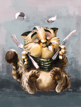 My cat ate a bird by Siranis
