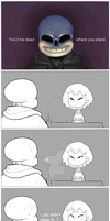 Sans is a Meanie by tasmaniacdevil