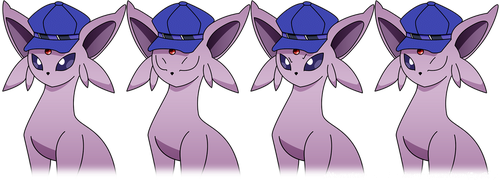 Espeon with Naoto's Hat (Sample Portraits) by roninator001