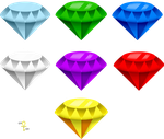 Chaos Emeralds render (FREE DOWNLOAD) by COUNTER3VOLUTION