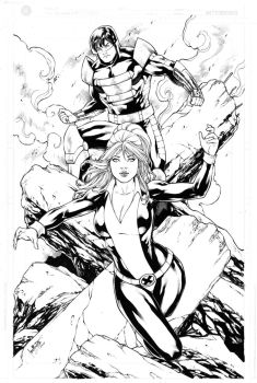 Avalanche and Kitty Pryde by Leomatos2014