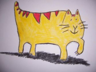 Yellow and red fat Cat by coenst
