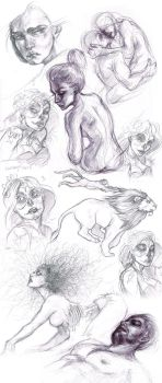 Page of Recent Sketches by Carliihde