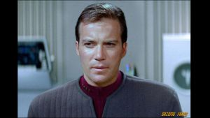 Captain Kirk in TNG by gazomg