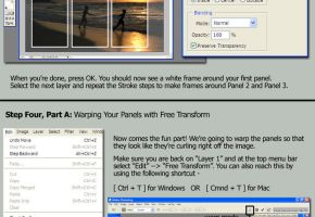3 Panel Page Curl - Tutorial by leialohastock