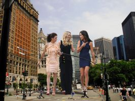 Ana Ivanovic and friends in the city by Natkatsz