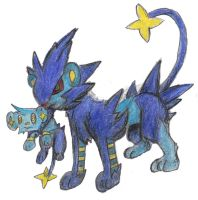 Shinx and Luxray by Hop-is-my-Hero