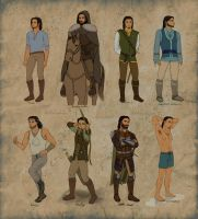 ranger outfits / Cal ref sheet by Ithilloth