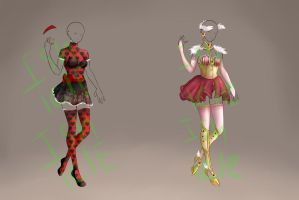 ADOPTABLE: Love Outfits [open] by Ishicle