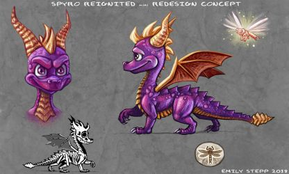 Spyro Reignited mini Redesign Concept by EmilyStepp