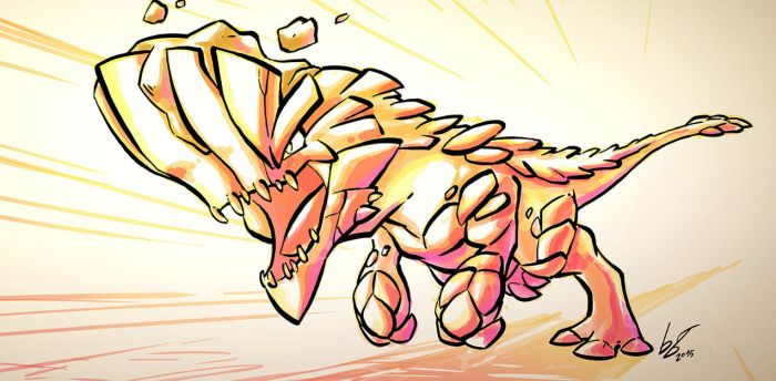 Barroth CHARGE by blazeberry