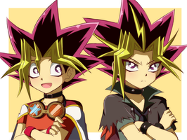 Yugi y Atem  cosplay by Caro-XY