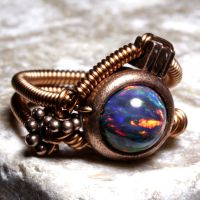 Steampunk RING Copper Lab OPAL by CatherinetteRings