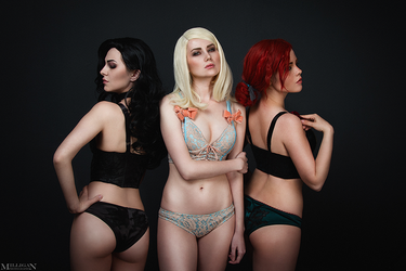 TW:WH - Lingerie - Sorceresses by MilliganVick