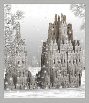 Castle in the snow by marijeberting
