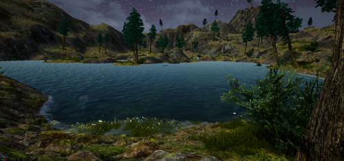 A ground view of a lake by GDIForces
