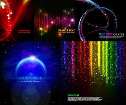 Cool glare Light background vector by vectorbackgrounds