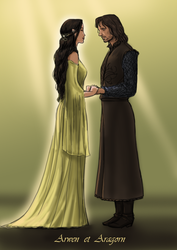 Arwen and Aragorn by AzaleasDolls