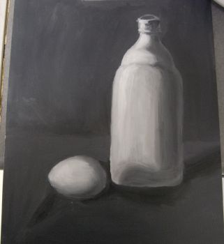 First Painting for class by Immortalchaos1