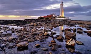 St Marys Lighthouse HDR 2 by 1-Professor-Chaos-1