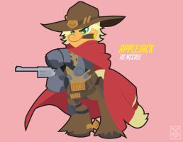 Applejack as Mccree by Inspectornills