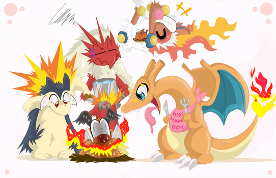 Charizard wanna Feast on Fire by SoftMonKeychains