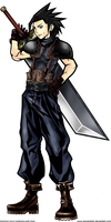 dissidia zack fair colored by renzantolin