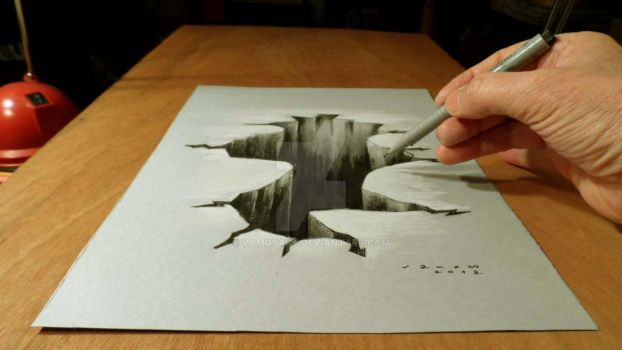 3D Drawing Hole by VamosArt
