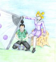 Shikamaru and Temari by Thirrinaki
