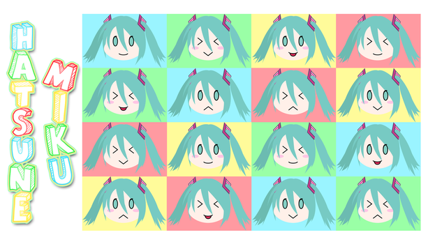 Hatsune Miku Chibi Wallpaper by CrossXAce