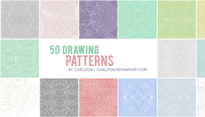 50 Drawing Patterns by Carllton