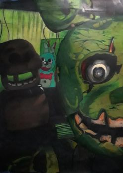 Springtrap (left side) by captaincrunch1950