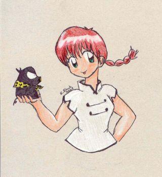 Ranma and Pchan by rainyday